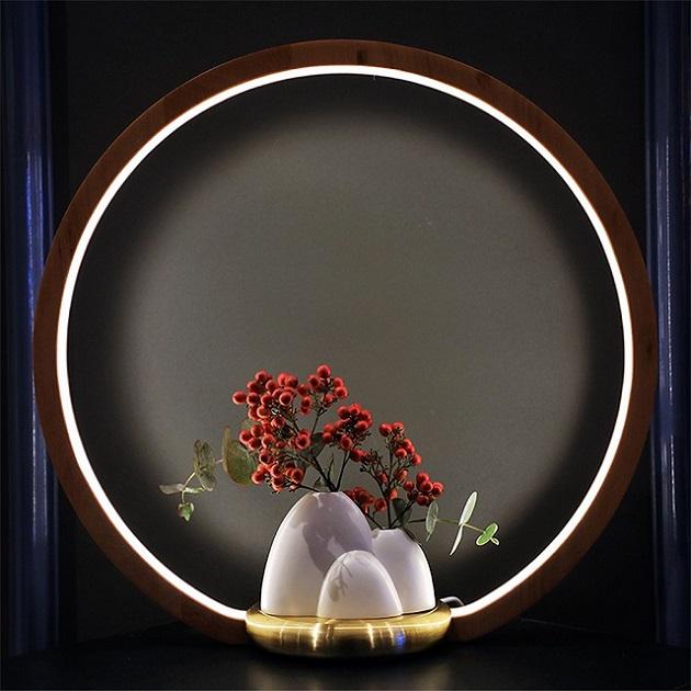 一抹光景 LED檯燈/原木款/遠山瓶 1