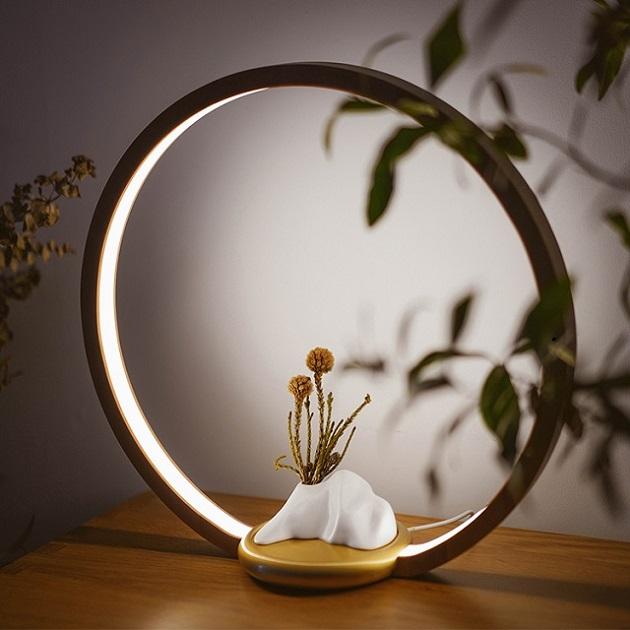 一抹光景 LED檯燈/原木款/半山瓶 2